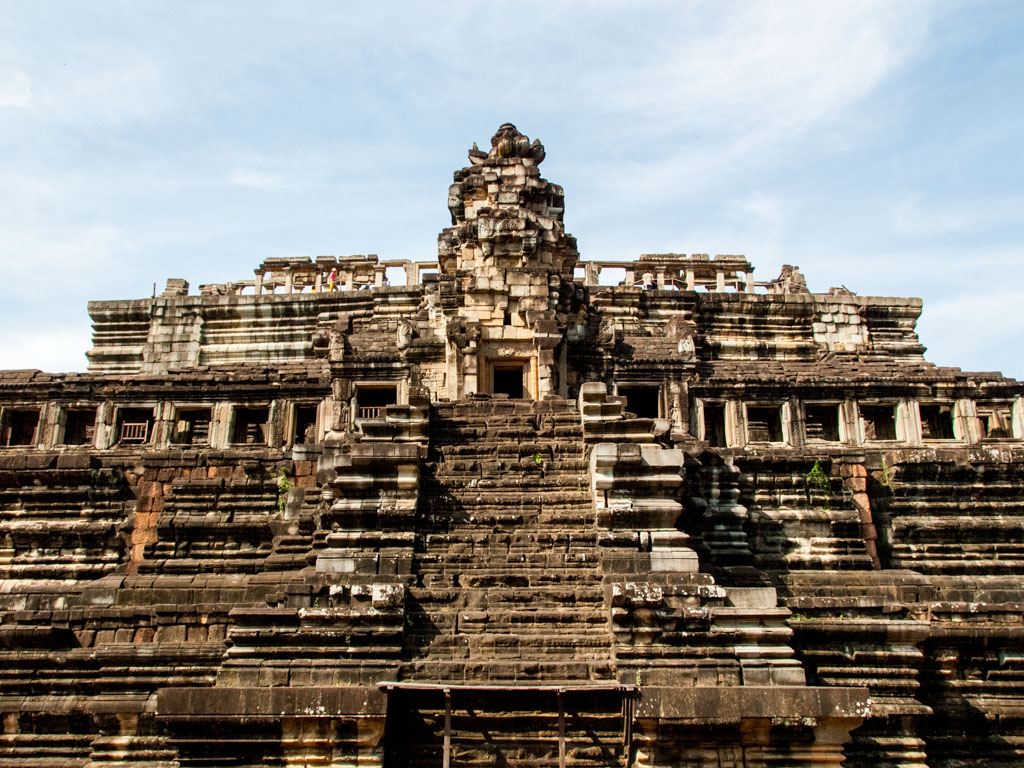 The numerous tiers of Baphuon Temple
