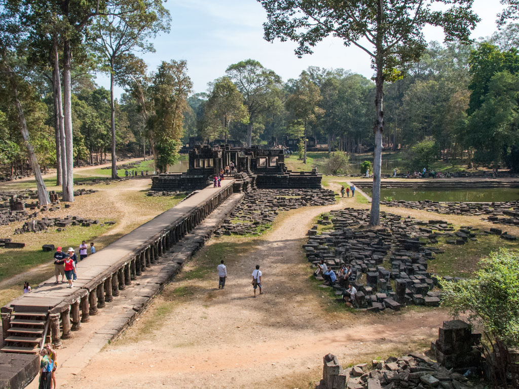 Looking over the entrance causeway form Baphuon Temple