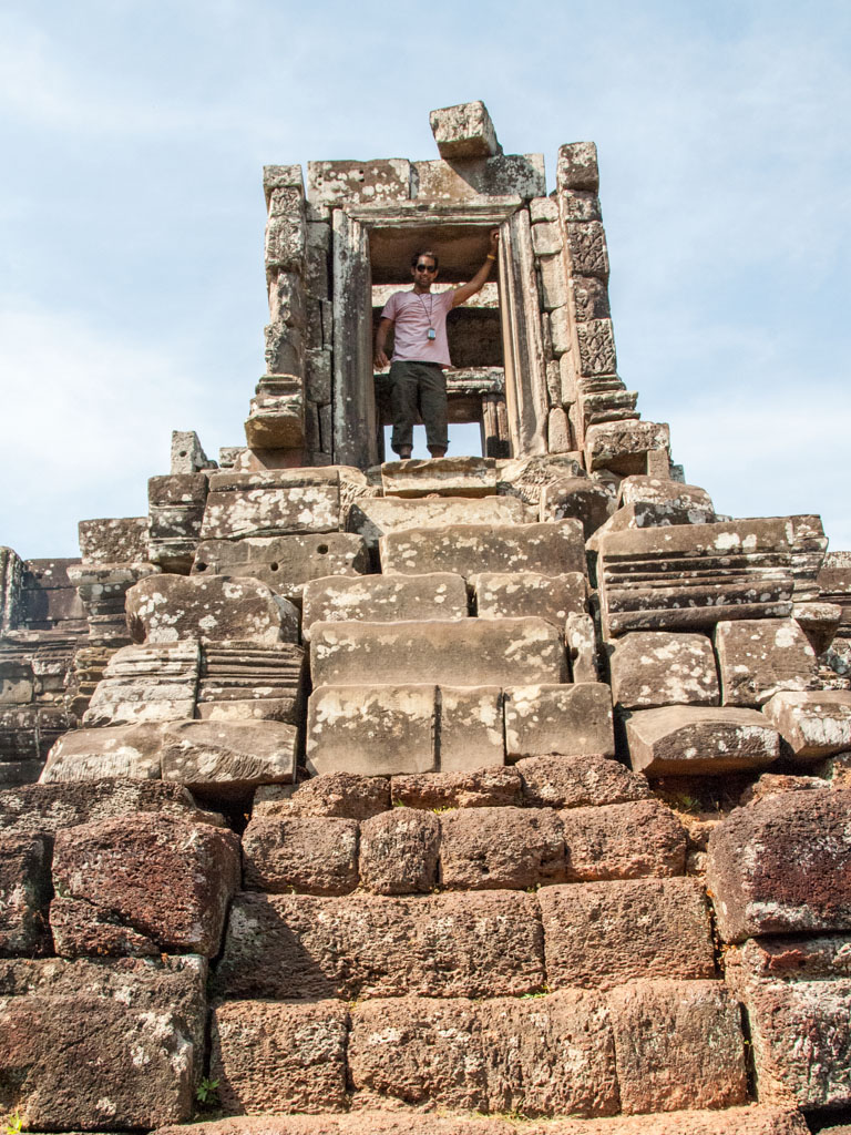 Travis standing at the top of Phimeanakas Temple