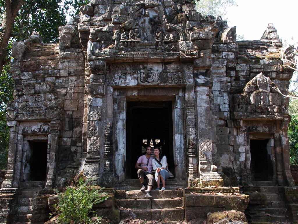 Travis and Sonya at Preah Palilay Temple