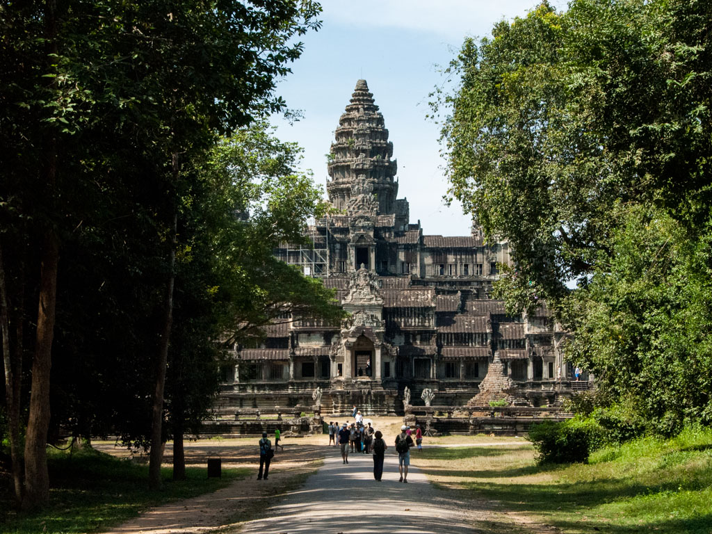 Angkor Wat viewed from the Eastern entrance