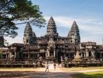 Gopuras of Angkor Wat viewed from the East