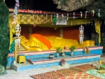 Sleeping Buddha inside the  killing caves
