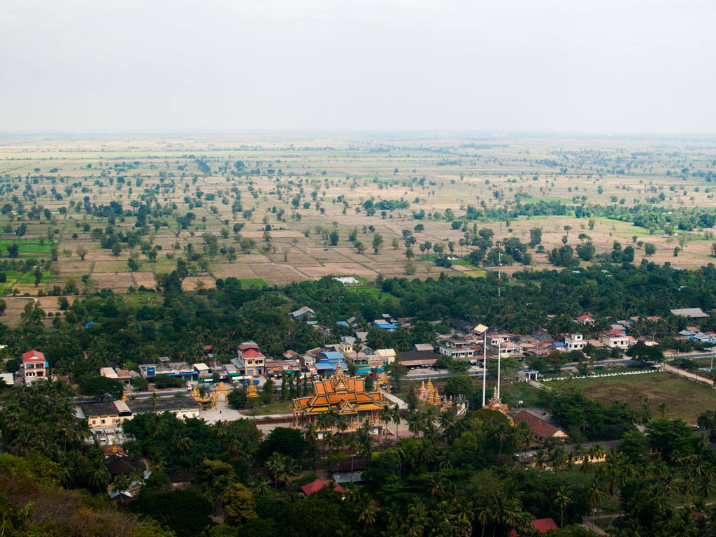 View from Phnom Sapeau hill looking towards Battambang