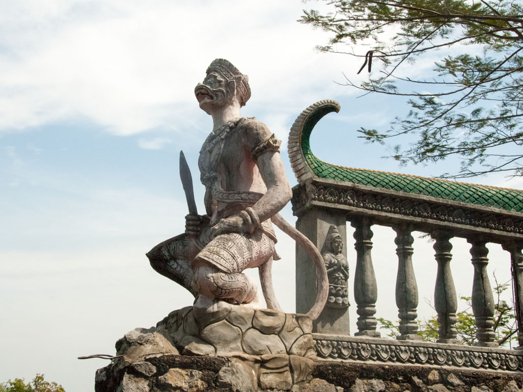 Monkey statue found at Phnom Sapeau Temple