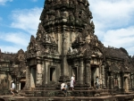 The central spire of Banteay Samre Temple