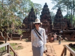 Sonya at the western entrance of Banteay Srey