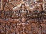 Intricate carved pediment