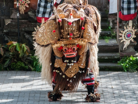 Barong, a mythical lion-like creature