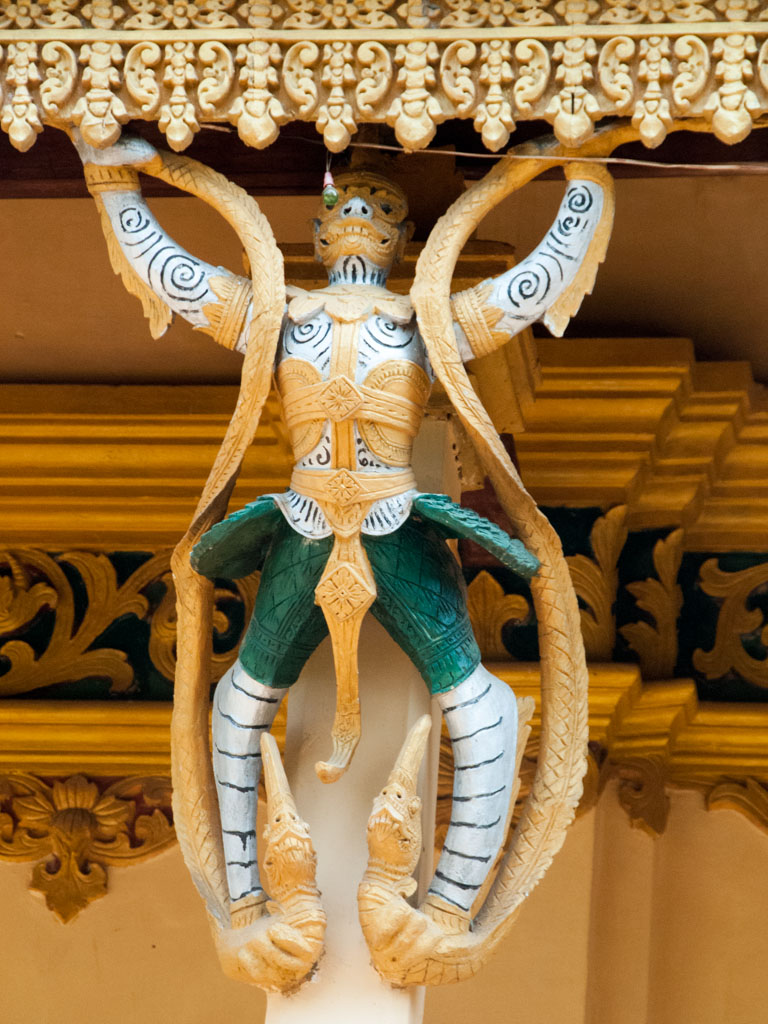 Mythical creature on the columns of Wat Pipetharam