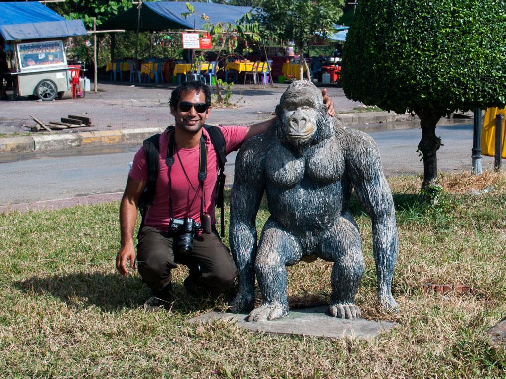 Travis and gorilla