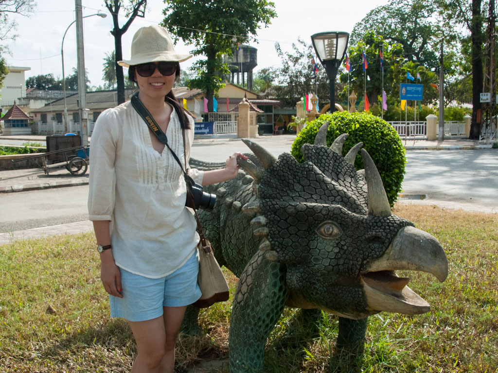 Sonya and triceratops