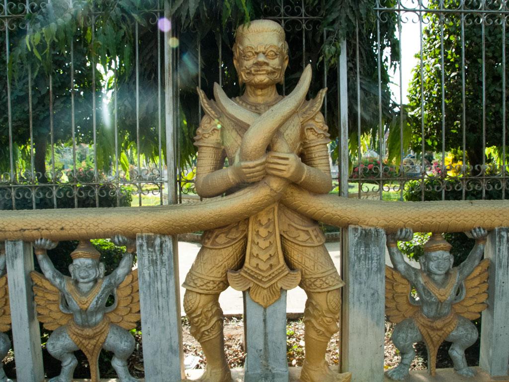 The gates of Wat Kamphaeng