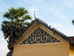 Intricate detail on a traditional style roof