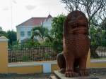 Mythical lion outside Sala Khaet