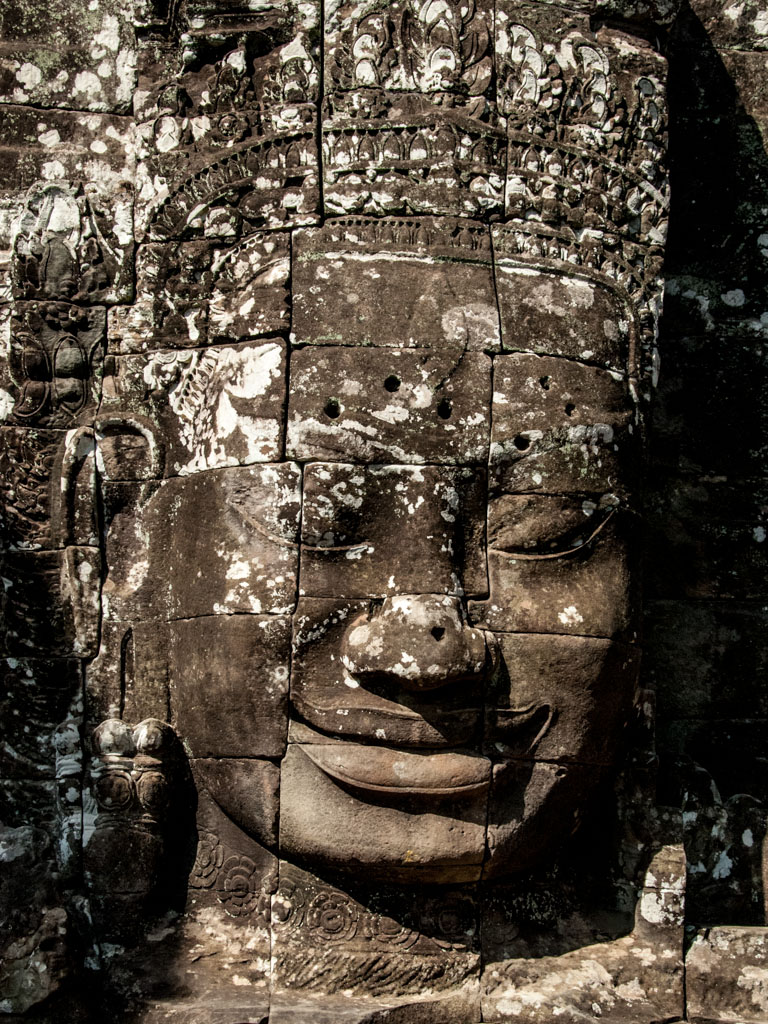 Face of Lokesvara at Bayon temple