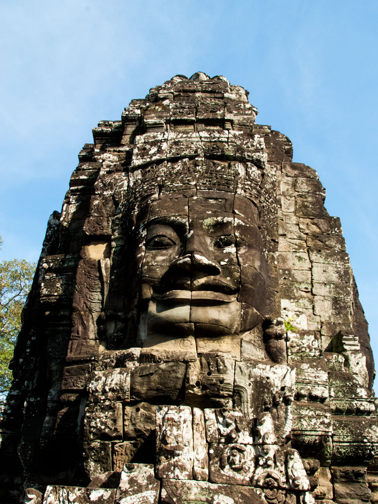 Smiling face at Bayon temple