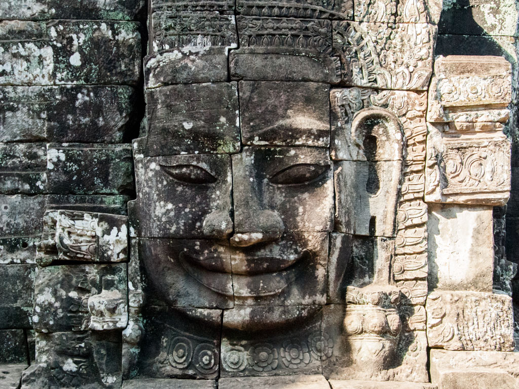 Iconic Cambodia smiling face