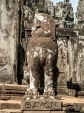 Lion stone sculpture with Bayon marking