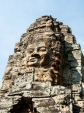 One of the many protruding heads of Bayon templ