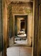Framed corridors inside Bayon temple