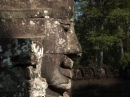 Side profile of one of the faces at Bayon