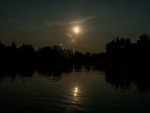 Reflection of the sun on Sangker River