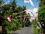 Indonesian flags ready for Independence Day