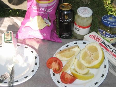 Sour picnic foods