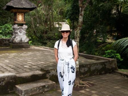 Sonya at Gunung Kawi, Ubud