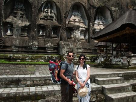 Sonya, Travis and Farah at Gunung Kawi
