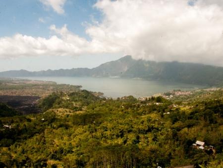 Mount Batur, an active volcano