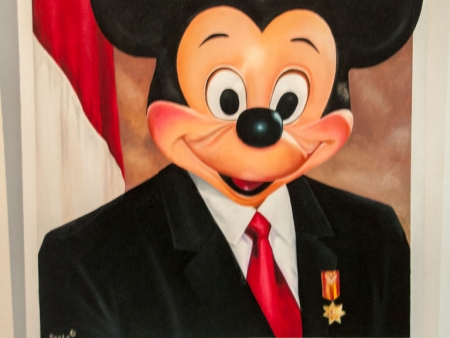 Mickey Mouse as the president of the Republic of Indonesia