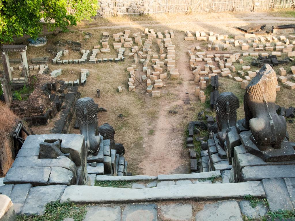 Ongoing restoration of Phnom Bakheng