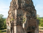 One of the towers of Pre Rup, notice the growth on the bricks