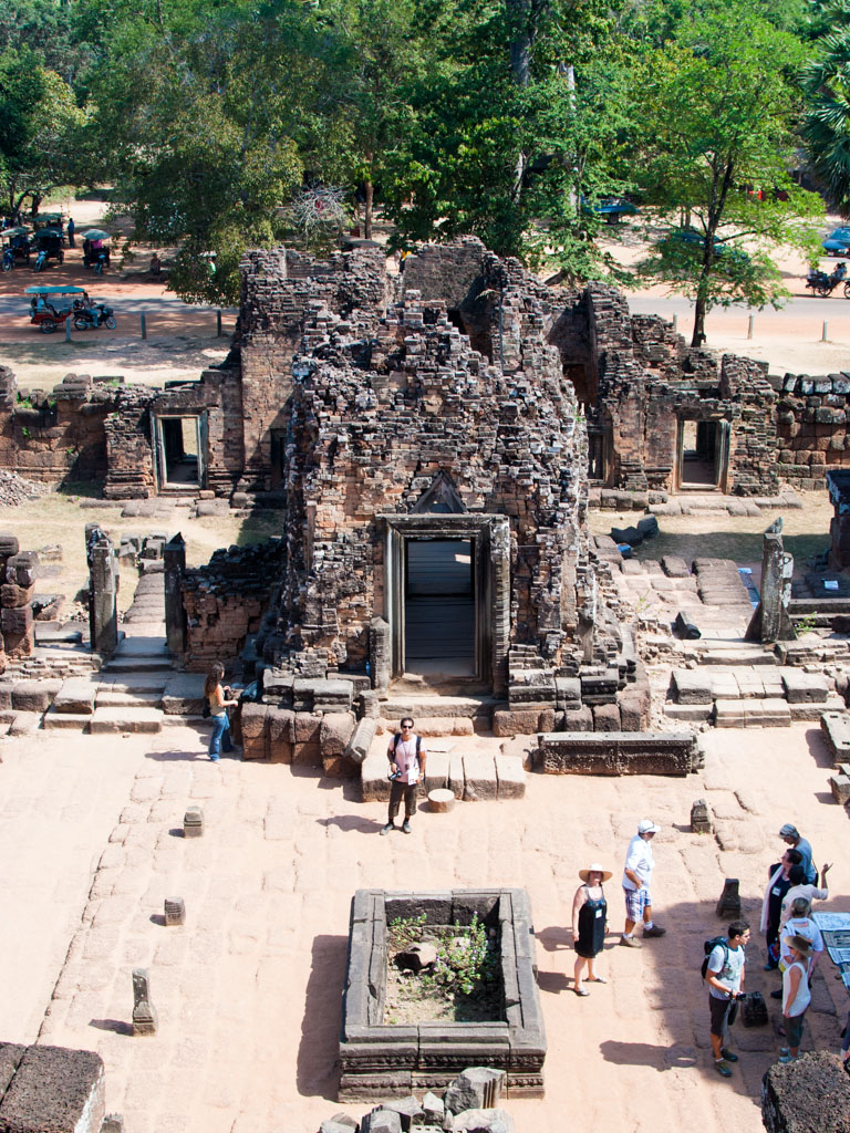 Looking down towards the entrance of Pre Rup