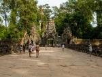 The wide causeway to Preah Khan Temple