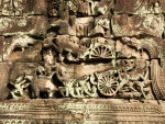Bas-relief depicting chariot battle