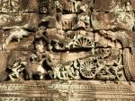 Bas-relief depicting chariot battle