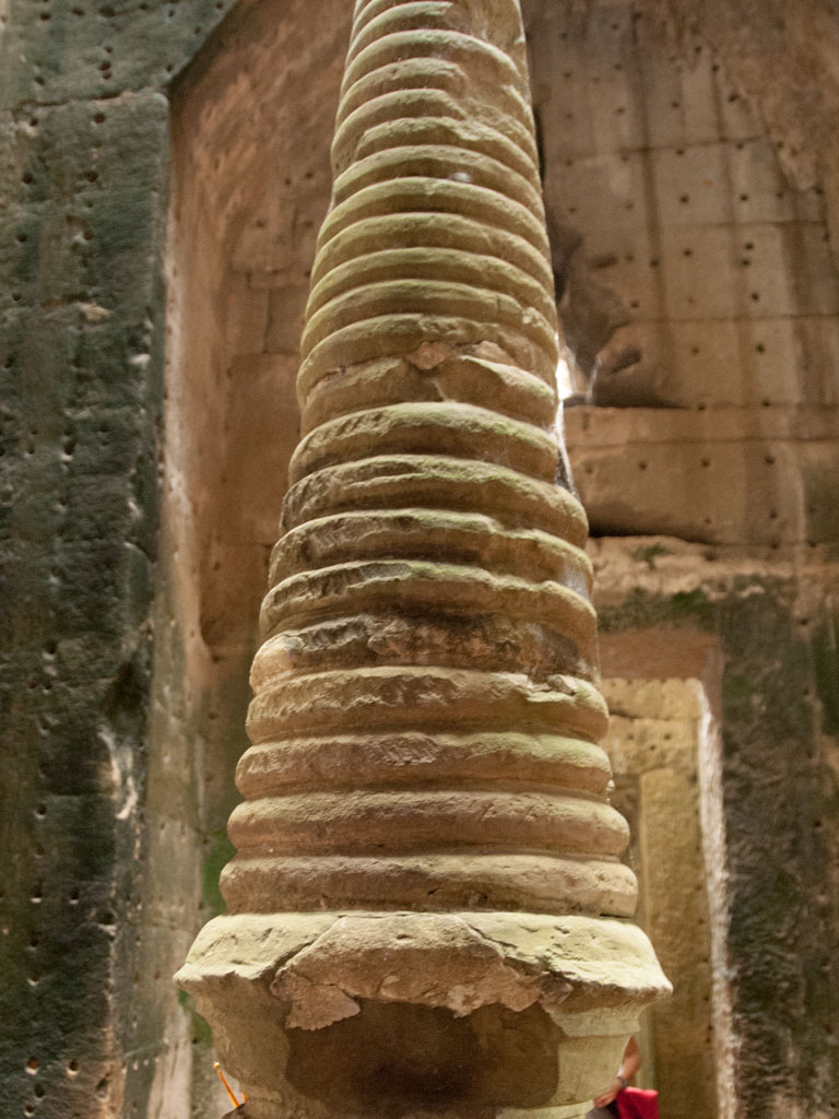 The tip of a stupa