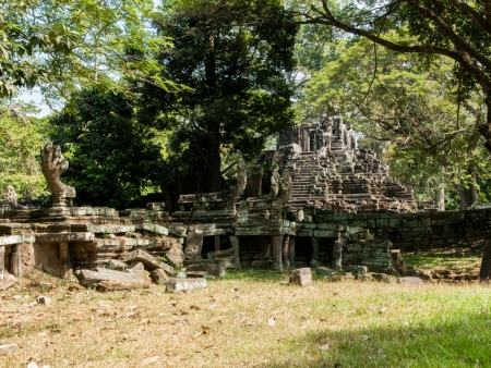Entrance to Temple T with Nagas visible on the left