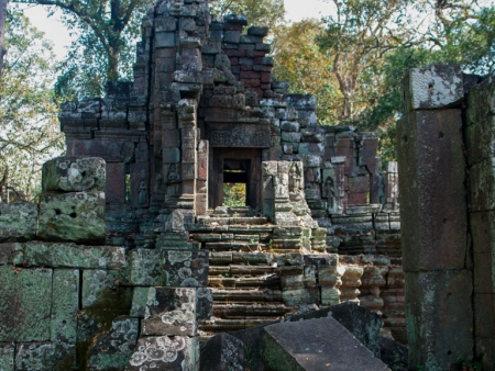 Looking across and into Temple U