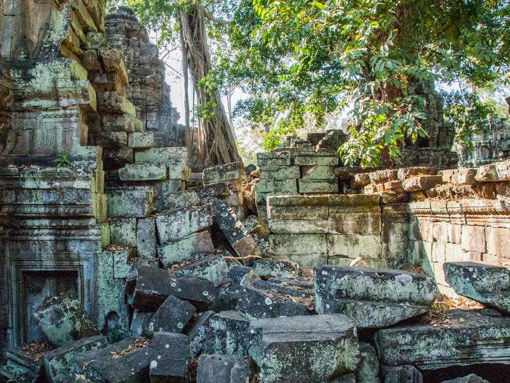 Collapsed stones of the temple