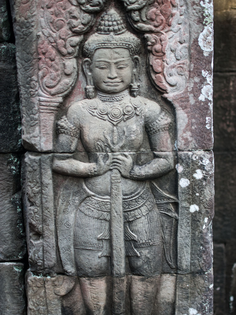 Bas-relief of a Dvarapala Statue