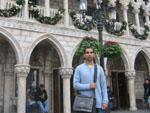 Travis in World Showcase Italy