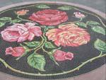 Pasadena is know as the City of Roses, Roses mosaic outside Paseo Colorado