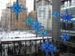 Inside Time Warner Center with view of Columbus Circle