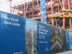 Construction at the 911 memorial site