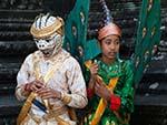 Monkey and Garuda costumes