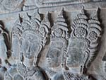 Deep carved bas-reliefs